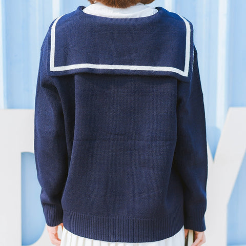 Japanese Navy Cardigan Sweater SE20046