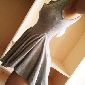 Grey/Black V Collar Dress SE9964