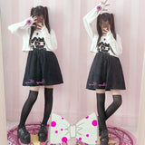 Japanese cartoon rabbit cherry blossom two-piece dress SE10089