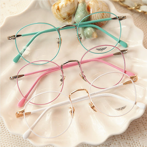 Vintage candy color round glasses SE9779