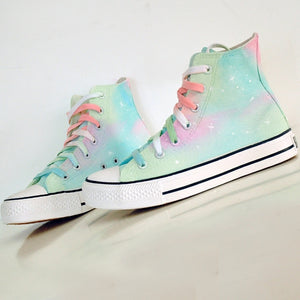 Harajuku Galaxy Hand-Painted Canvas Shoes SE11287