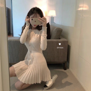 JK Japanese Knit Pleated Dress SE20152