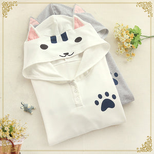 Students Cat Hooded Pullover SE8643