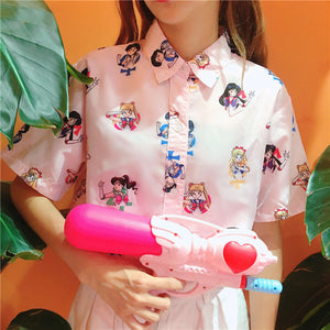 Sailor moon printing shirt SE10437