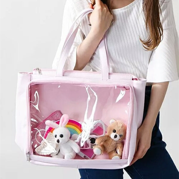 Pink Transparent Tote Bag SE11388