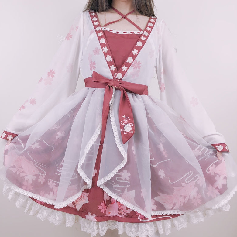 Japanese Ponyo Cosplay Dress SE11185