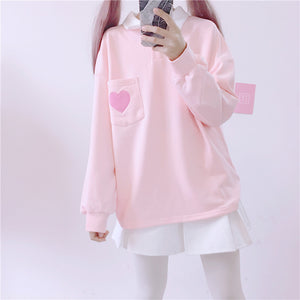 Pink/Grey Students Sweatshirt SE11082