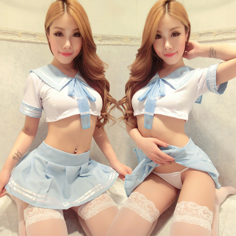 Sky blue role play students suits SE9197