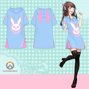 Cartoon D.VA Hoodie Dress SE10001