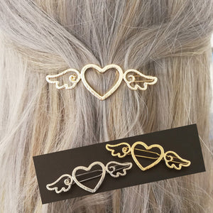 2PCS Gold/Silver Wings Hairpin SE10970