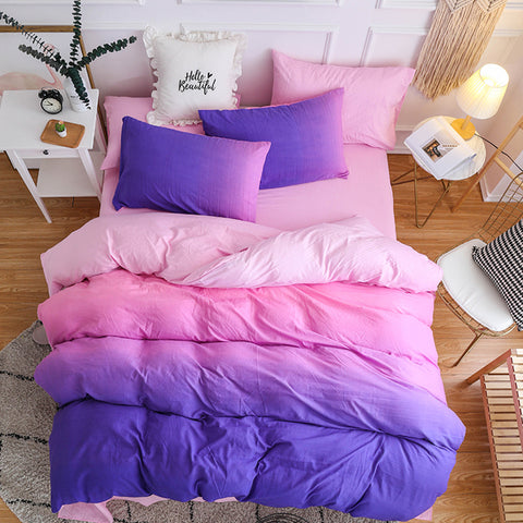 Harajuku Gradient Bedding Sheet 4 Pieces SE11412