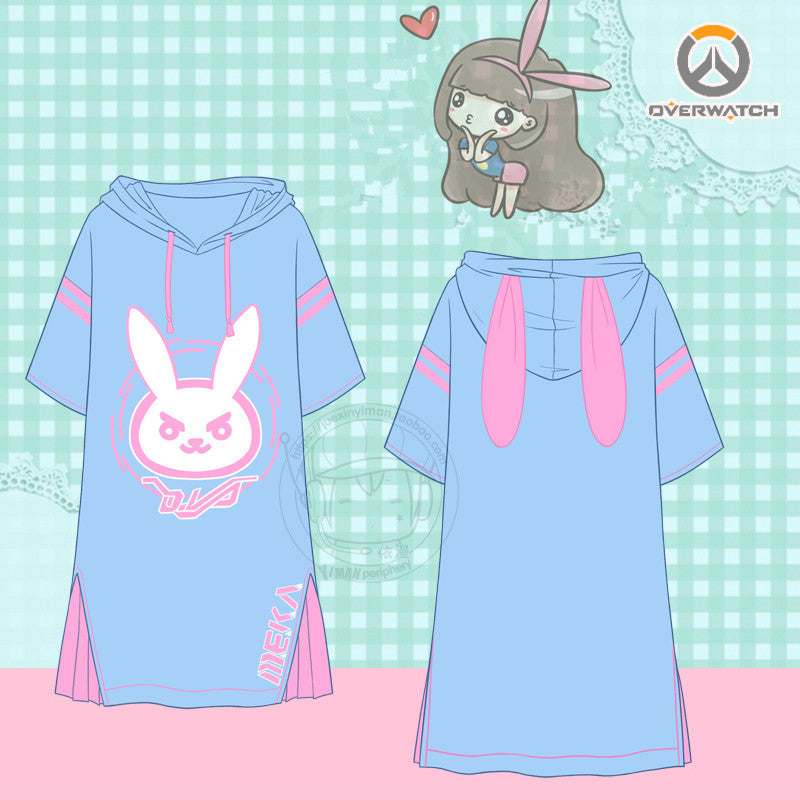 Kawaii cartoon D.VA hoodie dress SE10001