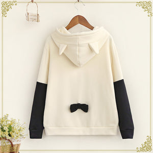 Cartoon Cat Hooded Fleece SE8927