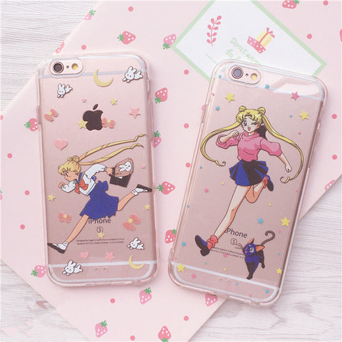 Sailor moon,transparent,iphone case,cartoon,