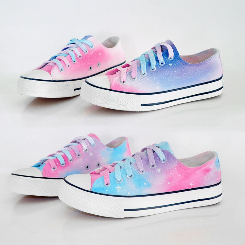Harajuku galaxy gradient hand-painted shoes
