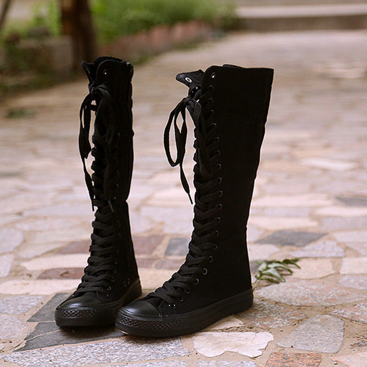 Korea zipper canvas boots SE8390