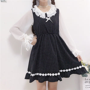 Lolita Bow Striped Dress SE20012