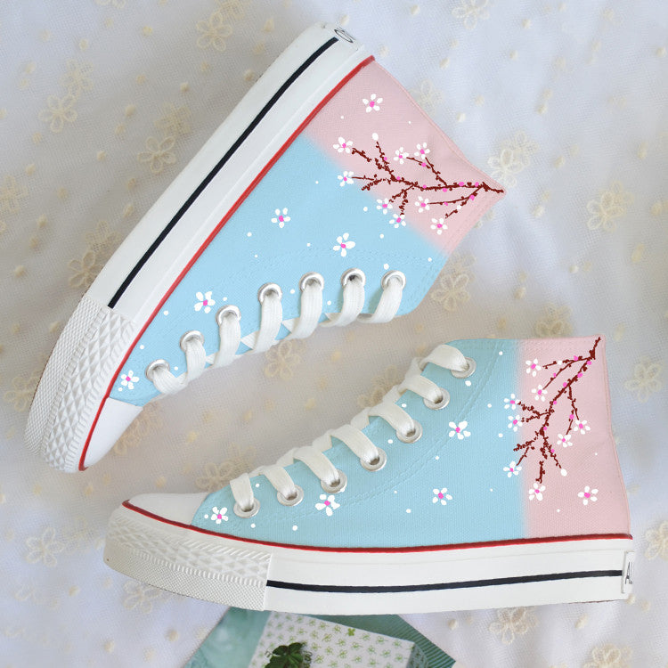 Graffiti Floral Canvas Shoes SE7648