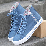 Cute kawaii floral lace sneakers