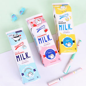 Kawaii cartoon milk box pen bag SE11031
