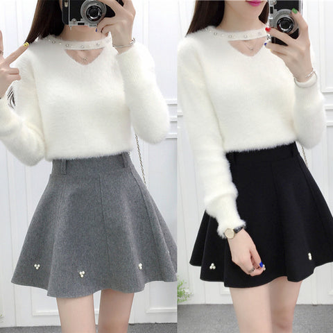 Sweet sweater + skirt two-piece SE9627