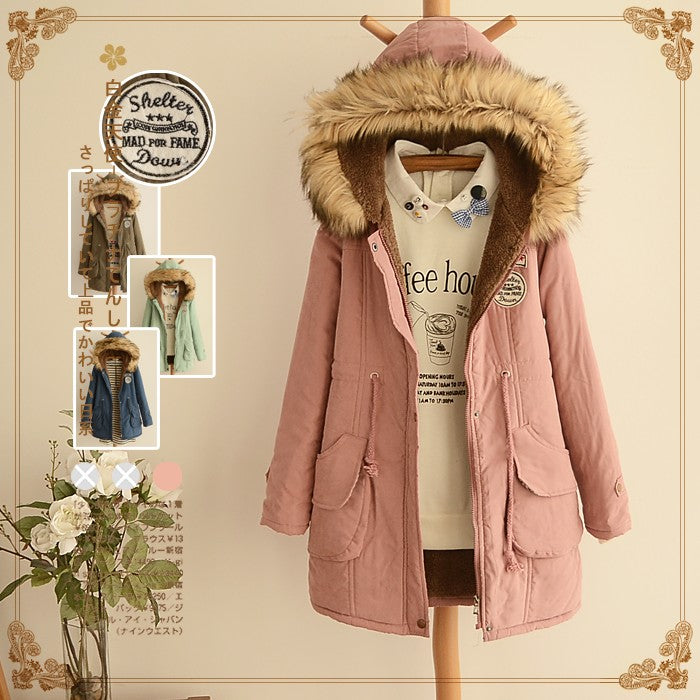 Japanese Plush Zipper Thick Hoodie Coat SE10834