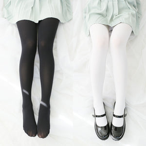 White/black  pantyhose SE10392