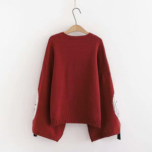 Tassel Fox Knitted Sweater SE20750