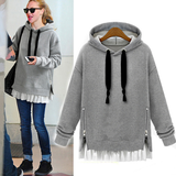 Plus Size Hooded Fleece Pullover SE4755