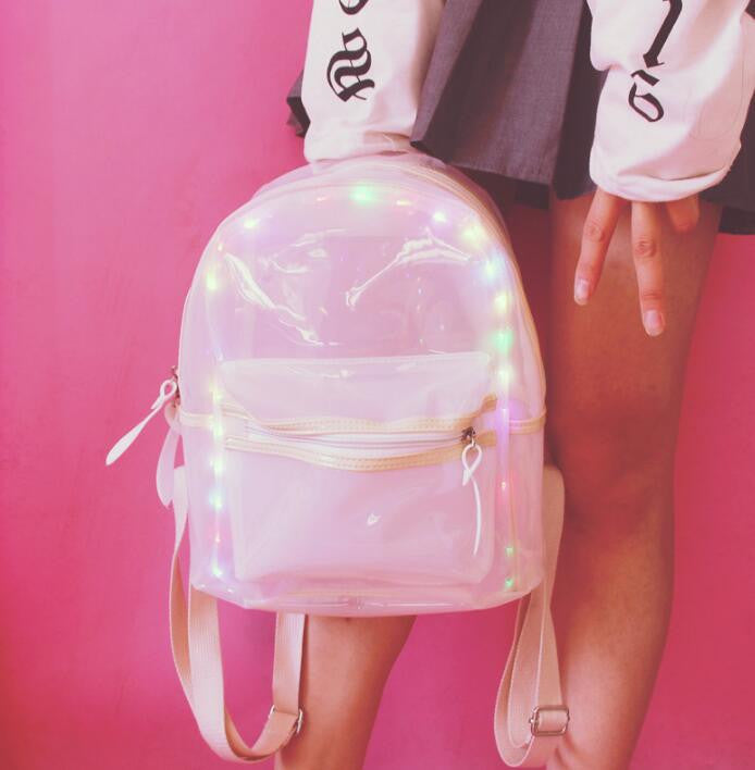 Students LED lighting Transparent Backpack SE8024