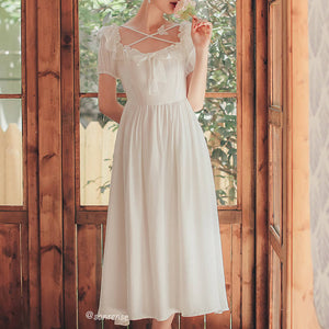 White Bow Dress SE21111