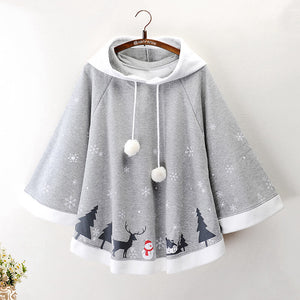 Winter Christmas Snowman Cape Coat SE21256