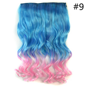 Gradient Color Clip-On Hair Wig SE1000