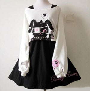 Cute Kawaii Bunny Two-Piece Dress SE10089