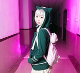 Cute kawaii anime ears hooded fleece coat