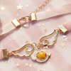 Sweet star wings necklace SE10378