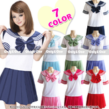Cute kawaii students cosplay sailor suits
