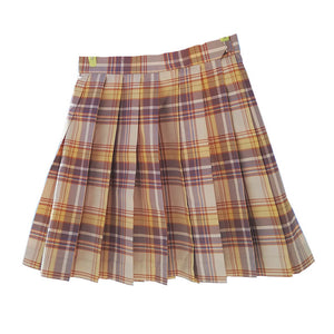 Yellow JK Pleated Skirt SE20485
