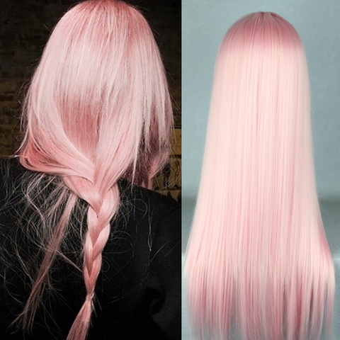 70cm Light Pink Cosplay Wig SE6470