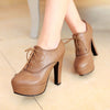 Japanese Lace-up High Heels Shoes SE20136