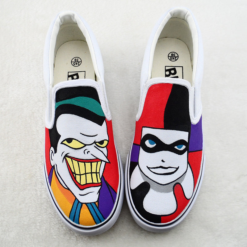 Hand-painted Clown Canvas Shoes SE20158