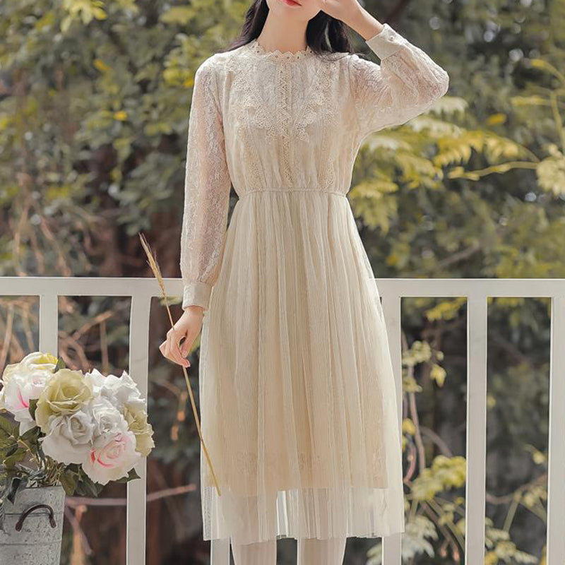 Sweet Japanese Mesh Lace Dress SE20153