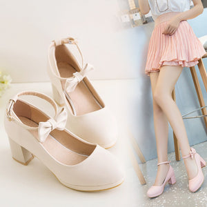 Japanese Lolita Cute Bow Princess Shoes SE20111