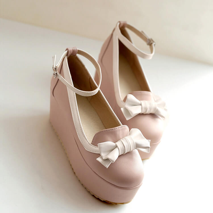 Cute Bow Platform Shoes SE21503