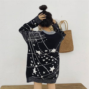 Star Pattern Loose Sweater SE20137