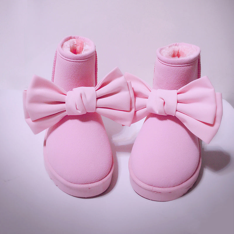 Cute Kawaii Pink Bow Boots SE20143