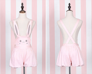 Cute Cartoon Bear Straps Skirt Rabbit Bib Pants SE20116