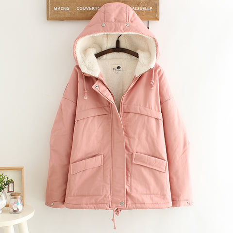 Plus Velvet Thickening Student Warm Coat Jacket SE20109