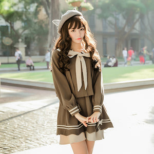 Sweet Japanese Doll Collar Shirt Skirt Set SE20144