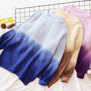 Japanese Gradient Loose Sweater SE20129